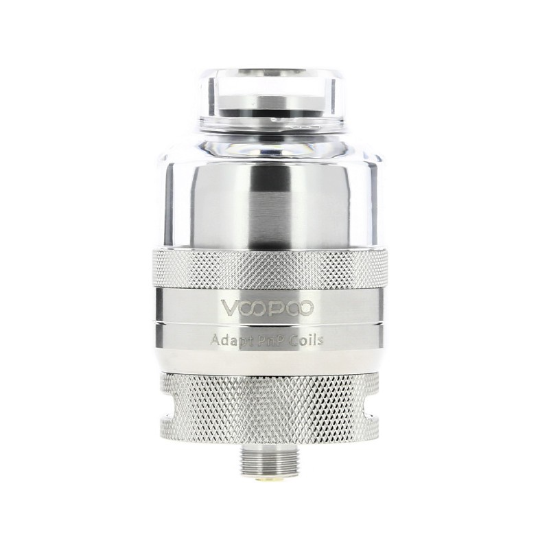 voopoo rta pod 2ml with ss deck front view